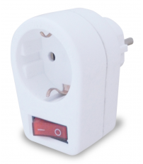 Adaptador simple con interruptor 250V 16A (GSC 0203304)