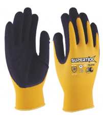 GUANTE LATEX NYLON SUPERTEX 3L TALLA 9