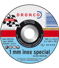 DISCO DRONCO AS60 INOX 125X1,0X22,2 C.MET