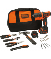 TALADRO BLACK AND DECKER ATORNILLADOR BDCDD12HTSAQW 10,8V