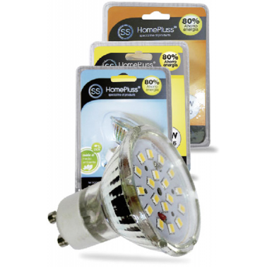 LAMPARA DICROICA 18 LEDS HOMEPLUSS 4,6W GU10 3000K