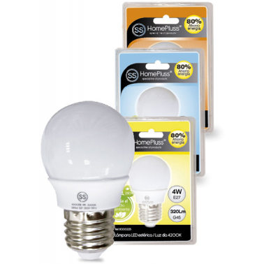 LAMPARA ESFERICA LED 4W E27 HOMEPLUSS 3000K