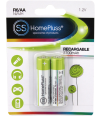 PILA RECARGABLE HOMEPLUSS R06 (AA)BL(2)