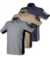 POLO STRETCH GRIS/NEGRO TALLA XL