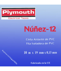 CINTA AISLANTE PVC 5073-10MX19MM BLANCO