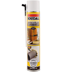 ESPUMA POLIURETANO SOUDAL. 300ML MANUAL