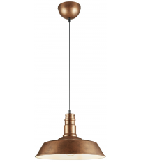 Lámpara colgante modelo Will cobre E27 (Trio Lighting R30421062)